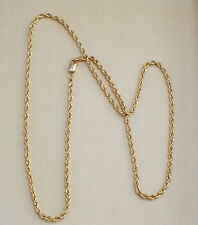"NICE Vintage 14KT Solid Gold Chain Necklace Jewelry 17"" Rope Form Collectible NR"