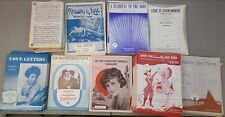 Vintage Sheet Music,Love Letters,Stairway to the Moon,Brotherhood, Lot of 847