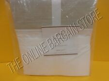 Pottery Barn Plaza 400 Thread Count Hotel Bed Sheets Set Queen Sandalwood NEW
