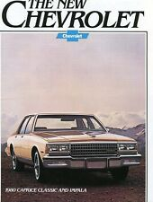 1980 Chevrolet Caprice Classic and Impala Factory Brochure 1979