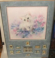 "KAYOMI HARAI ""LITTLE BLOSSOM"" HAND SIGNED COLOR LITHOGRAPH AND STAMPS COLLECTION"