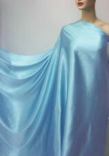 "by The Yard ""Rich Bluebird""100% Pure Silk Fabric Satin Charmeuse Crepe Back"