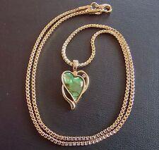 Anhänger & Kette Paua Abalone Muschel Gold Plated Herz Amulett Seeopal Perlmutt