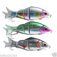 Lot 3pcs Multi Jointed Fishing Lures Artificial Bait Swimbait Hook Tackle 21g