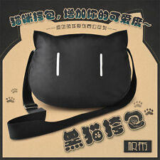 Cartoon Black Cat Women Messenger Bag Cross Body Shoulder Purse Handbag Satchel
