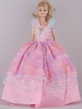 New Handmade Pink Dress Clothes Outfits For Barbie Doll #1008