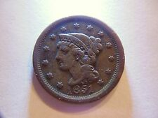 Great Looking 1851 VF Braided Hair Large Cent,  *Nice Coin for any Collection*