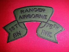 US 1st Battalion 75th Infantry RANGER AIRBORNE Vietnam War Subdued Scroll Patch