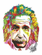Albert Einstein, Scientist, Relativity, Physics, E=mc2 Math, 8.5x11 PRINT w/COA
