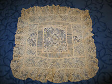 Exquisite Antique Vtg NORMANDY NET LACE PILLOW COVER-SHAM
