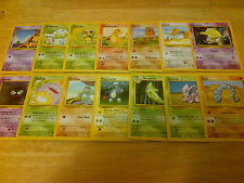 27 Base Pokemon Cards Complete Common Set Lot Collection