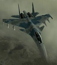 Su-35 Super Flanker Ace Combat Airplane Desk Wood Model Small New