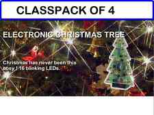 (PACK OF 4) MUSICAL Christmas Tree w/Flashing LEDS and 3 Christmas Songs DIY Kit
