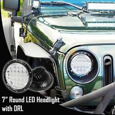 """7"""" Round 75W PHILIPS LED Headlight Projector DRL Hi/Lo BEAM For JEEP Wrangler JK"""