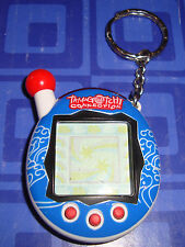 Tamagotchi Electronic Keychain ocean Blue and White, Black Trim Awesome
