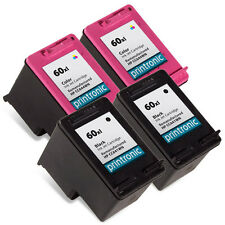 4 Pk HP 60XL Ink Cartridge - DeskJet F2423 F2430 F2480 F2483 F2488 F2492 F2