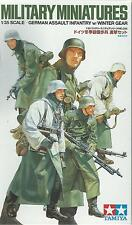 TAMIYA 1:35 KIT 5 SOLDATI GERMAN ASSAULT INFANTRY w/WINTER GEAR  ART 35256