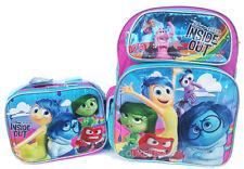 """Disney Inside Out 16"""" Large School Backpack Lunch Bag 2pc Set -Anger Emotion"""