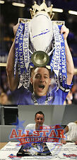 JOHN TERRY SIGNED CHELSEA CHAMPIONS 16x20 FOOTBALL PHOTO SEE REAL PROOF & COA