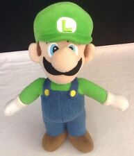 "Nintendo Super Mario Brothers LUIGI Soft Stuffed Plush Toy Doll 13"" Official"