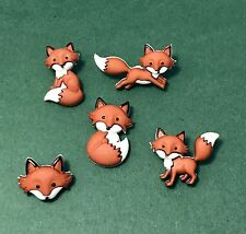 Dress it Up Fox Buttons - Outfoxed - Woodland Animals Nature Scrapbook Woodland
