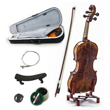 NEW 1/8 Violin Solid Wood High Flame Satin VN303 w Case Bow Rosin String