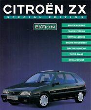 Citroen ZX Elation Limited Edition 1995-96 UK Market Leaflet Sales Brochure