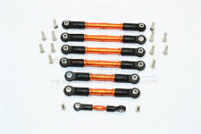 Traxxas Slash 4X4 LCG Upgrade Parts Aluminum Completed Tie Rod - 7Pcs Set Orange