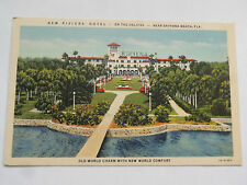 CPSM NEW RIVIERA HOTEL ON THE HALIFAX NEAR DAYTONA BEACH . FLA.