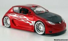 Peugeot 206 - metallic-rot/Dekor -  1:24 WELLY