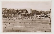 Dorset postcard - West Beach from Bournemouth Pier - RP