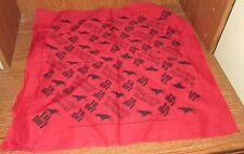 "T.Q. HOT Tequila Gold Mexican Red Cowboy Western Bandana Promotional 21""x21"""