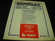 WEMBLEY legends 1988 Promo Ad U2 QUEEN Springsteen PRINCE Michael Jackson others
