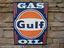 GULF Gas Oil 18 x 14 Embossed Metal Signs Vintage Style Service Station Garage