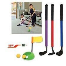New Mylec Youth Plastic 6 Piece Golf Club Set Chipper Putter Driver Putting Ring
