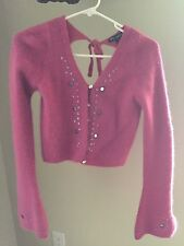 Betsey Johnson Angora Sweater Deep Rose Sz S