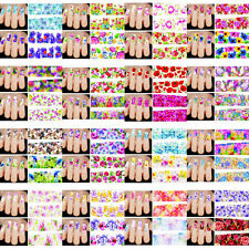 50PCS Flower Water Transfer DIY Manicure Decals Nail Art Stickers Decor sheet