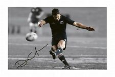 DAN CARTER - NEW ZEALAND ALL BLACKS AUTOGRAPHED SIGNED A4 PP POSTER PHOTO