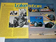"1987 El Mirage Back-Motor Lakester Article ""Lake Star"" Bonneville Dragster"