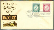1959 Philippines HONORING CITY OF BACOLOD First Day Cover – A