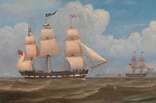 The English Merchant Ship Malabar William Clark Segelschiff Möwen B A3 03489
