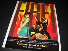 CELINE DION others are on FIRE Talent That's Hot vintag PROMO DISPLAY AD mint