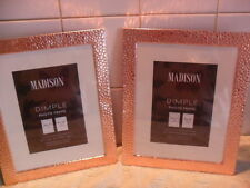 "Copper Rose Gold Textured Picture Frame Set 8"" X 10""    x 2 frames"