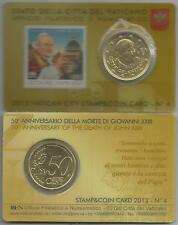 VATICANO - Stamp & Coin card N. 4   2013