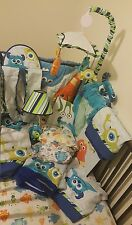 Crib Bedding Set 14 pc Baby Monsters Inc Nursery Toddler Bedroom Mike Sully lamp
