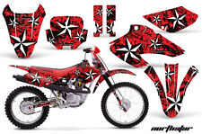 AMR Racing Honda XR 80/100 Graphic Decal Number Plate Kit Bike Stickers 01-03 NS