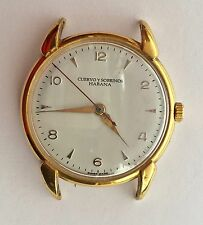 Vintage Cuervo y Sobrinos Habana Watch Gold Plated Case No Band    GR0803