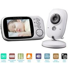 "Wireless 3.2"" 2.4GHz Digital Baby Monitor Camera Audio Video Temperature US I6S1"