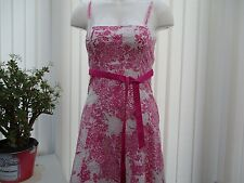 """""""west one"""" pink and white floral summer dress size 10"""