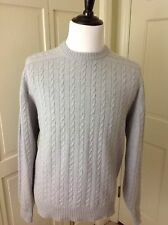Neiman Marcus 100% Cashmere Thick Cable Sweater Made in Scotland M EUC